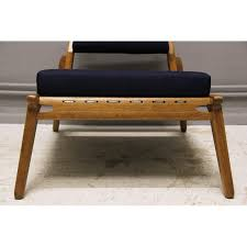 Ottoman Germany Mid Century Lounge Chair With Ottoman In Oak And Textile
