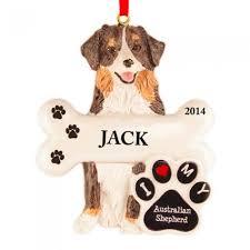 australian shepherd top speed australian shepherd dog personalized christmas ornament