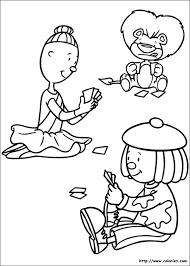 COLORIAGE  Coloriage de Jojo joue au cartes