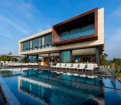 Two Storey House Swimming Pool Contemporary Two Storey House Design With In Newest