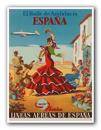spain art print travel poster spanish home decor xr879