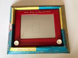 etch a sketch magic screen wrist watch 1995 rare choice of color
