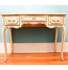 French Computer Desk by Henry Link French Provincial Style Vanity With Folding Mirror Ebth