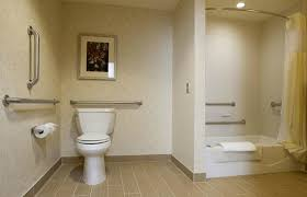 our handicap accessible rooms offer both tubs or roll in showers