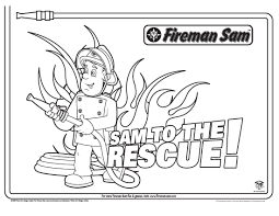 free fireman sam cartoon coloring pages printable kids