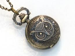 steampunk owl necklace images Steampunk owl pocket watch necklace antique brass neo jpg