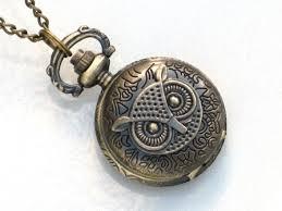 steampunk owl necklace images Steampunk owl pocket watch necklace antique brass neo jpg