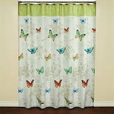 Pottery Barn Kids Shower Curtains Bathroom Decor Little U0027s Pink Blue Purple Gray Butterfly