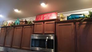whats on top of your kitchen cabinets home decorating above cabinet décor house made home