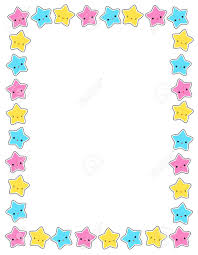 Invitation For Cards Party Cute Colorful Stars Border Frame For Greeting Cards Party