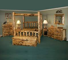 Cheap Log Bed Frames Extraordinary Rustic Bedroom Interior Design Style With Wood Log
