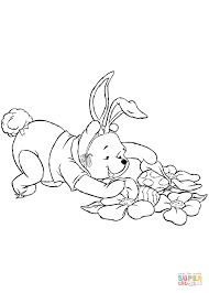 winnie the pooh easter eggs winnie the pooh is fro easter eggs coloring page free