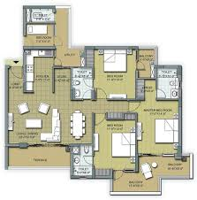 3 bhk apartment floor plan floor plans u2013 3 bhk and 4 bhk apartments in chandigarh