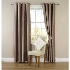 wilko faux silk eyelet curtains mink 167cm x 228cm home decor