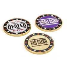 What Is A Big Blind In Poker Gogo Metal Chip Poker Buttons Small Blind Big Blind And Dealer