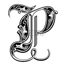 imagenes en ingles con la letra p hermosa decoración alfabetos inglés de estilo gótico la letra p