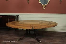 vintage english inlaid dining table ft round mahogany of including