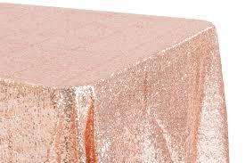 90 x 156 table glitz sequin 90 x156 rectangular tablecloth blush rose gold cv