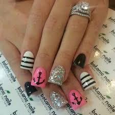 nail design ideas pretty glitter stripes nail design ideas new simple