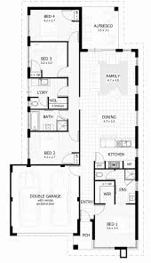 narrow house plan 3 bedroom house plans unique e story house plans