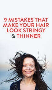 pictures of best hair style for stringy hair 9 mistakes that make hair look thin hair make up make up and full