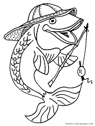 fisherman fish printable kids coloring pages coloring pages