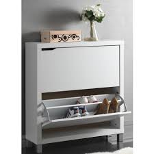 Closet Shoe Organizer by Modern White Solied Wood Pull Out Shoe Storage With Small Cabinet