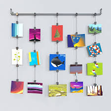 photo hanger clips amazon com hanging photo organizer rail with chains and 32 clips