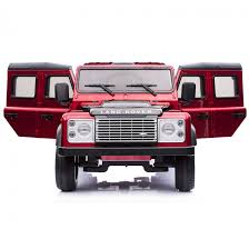red land rover licensed land rover defender 12v child u0027s ride on red outdoor toys