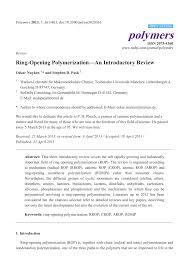ring opening polymerization u2014an introductory review pdf download