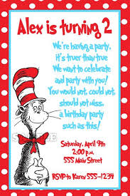 dr seuss birthday invitations best 25 cat in the hat party ideas on dr seuss party
