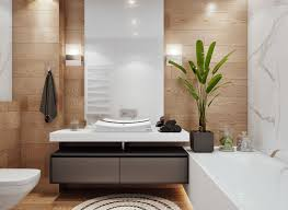 bathroom decor ideas for apartments two efficient apartments for families with two children