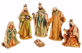 nativity set gold adorned 6 set for indoor or outdoor use