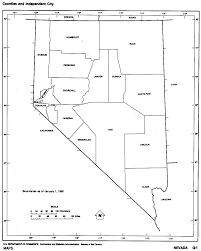 printable map of nevada nevada maps perry castañeda map collection ut library