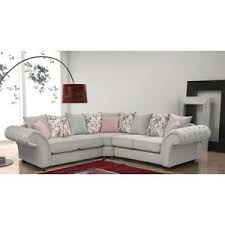 Chesterfield Corner Sofas New Large Roma 3 2 Suite Or Corner Sofa Silver Fabric