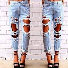 Destroyed High Waisted Jeans High Waisted Destroyed Jeans Oasis Amor Fashion