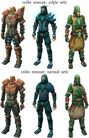 raids armour achto and normal runescape
