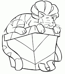 cool photo series of christmas cat coloring page suitable for your