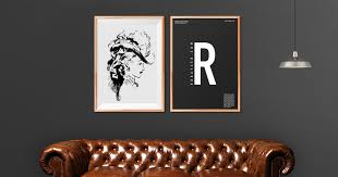 free wooden art frame psd mockup
