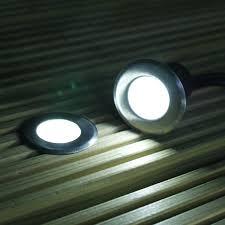 6 white solar powered outdoor garden deck lights for garden