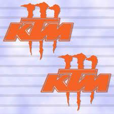2 pieces monster energy ktm racing outdoor decal sticker die cut