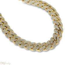 diamonds gold necklace images 41 gold and diamond chains mens solid yellow gold miami cuban jpg