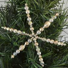 beaded snowflake ornament tutorial a bigger