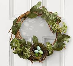 Pottery Barn Christmas Decorations Sale by Rustic Easter Wreath With Nest Pottery Barn