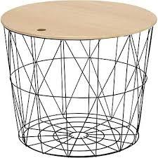 table bout de canapé bout de canape noir bout de canapac en mactal noir h41cm table bout