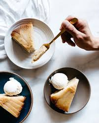 cardamom spiced pear upside down cake u2022 fix feast flair