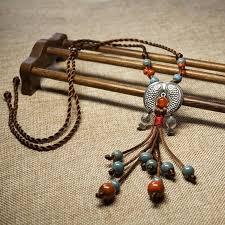 ethnic necklace vintage images Tibetan whitebait ethnic ancient jewelry original ceramic jpg