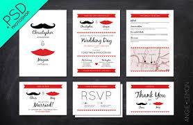 mustache invitations mustache and lips wedding stationery invitation templates