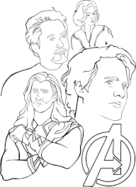 avengers printable coloring pages coloring page
