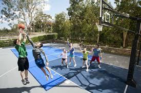 Backyard Tennis Courts by Sport Court Construction San Antonio Outdoor Basketball Court